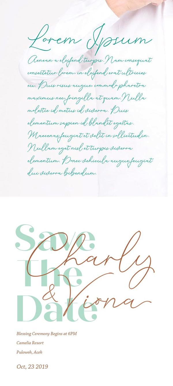 Cochocib Script Font Letters