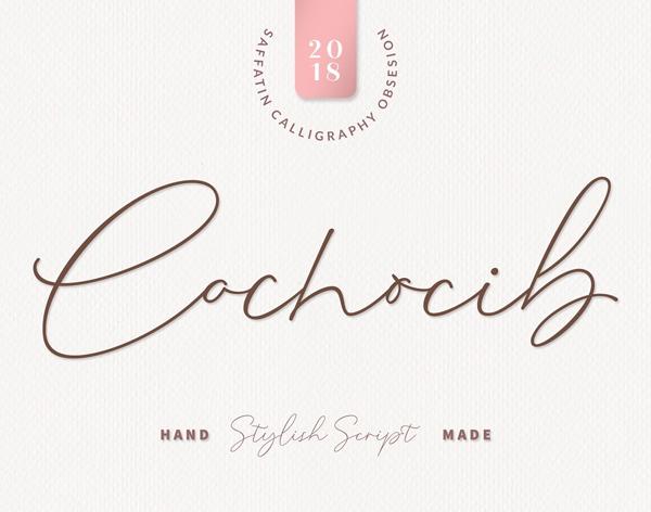 Cochocib Script Free Font