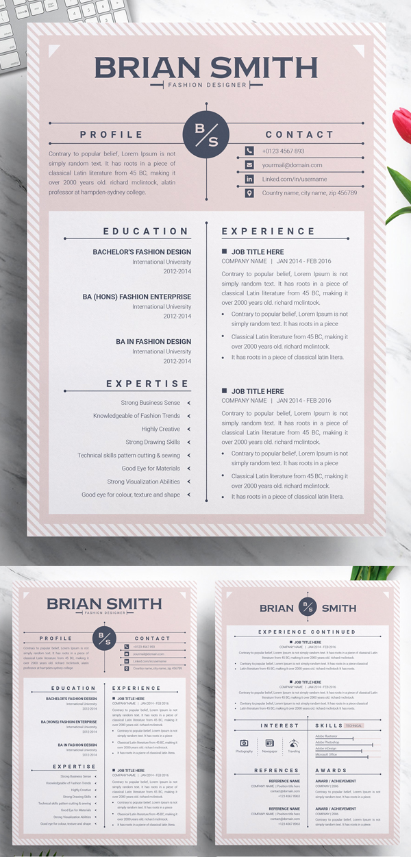 Creative MS Word Resume Template