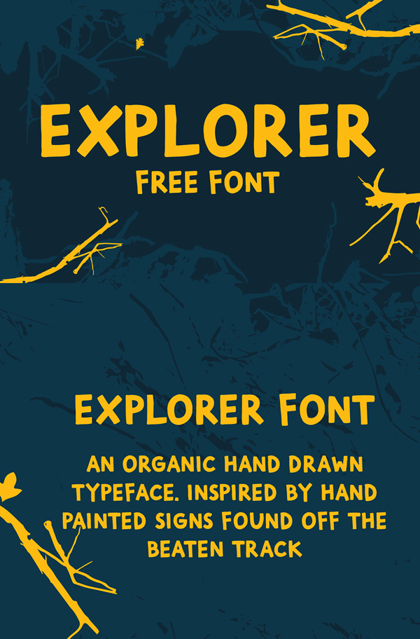 Explorer Hand Drawn Free Font