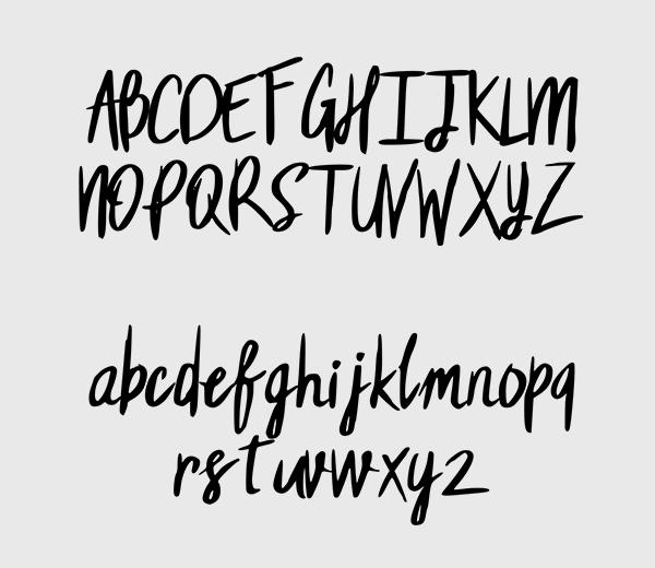 Fehren Font Letters