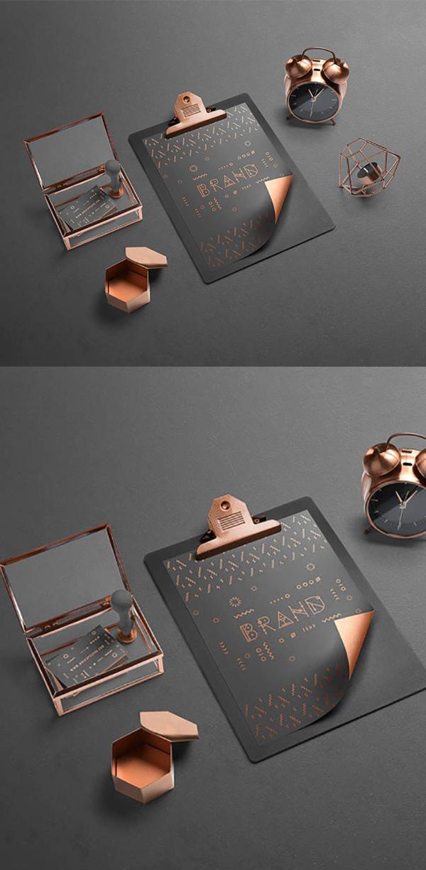 Free Isometric Branding Mockup Scene