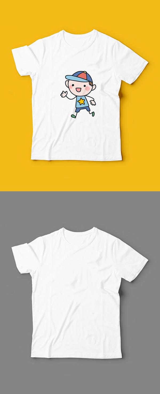 Free Kids T-Shirt Mockup PSD Template