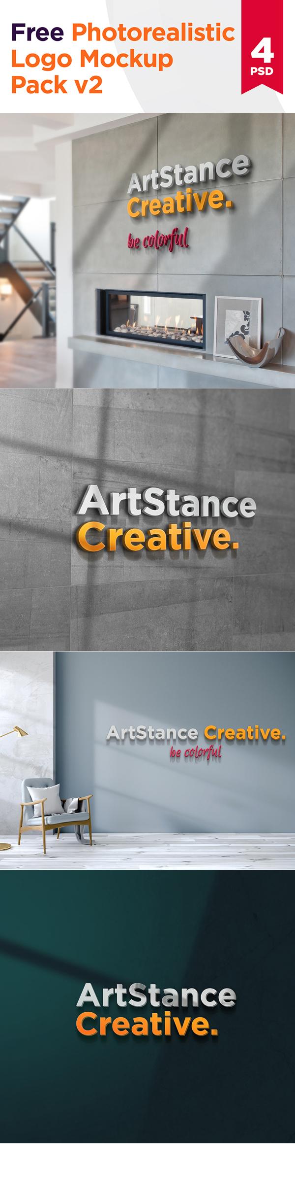 Free Photorealistic Logo Mockups
