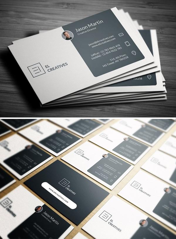 Dark Blue Corporate Business Card