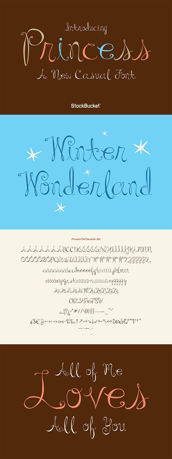 Princess – A Casual Script Font
