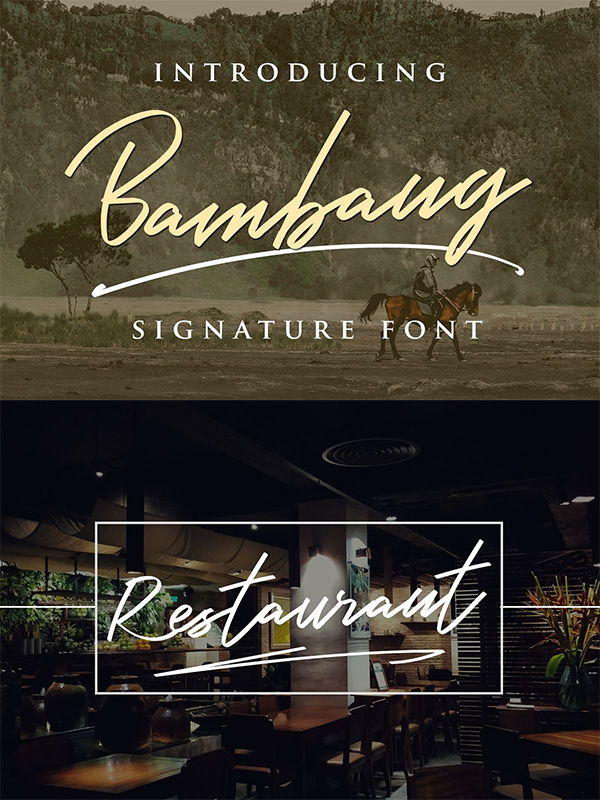 Bambang - Signature Font