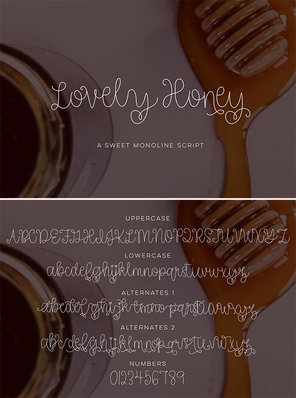Lovely Honey Script Font