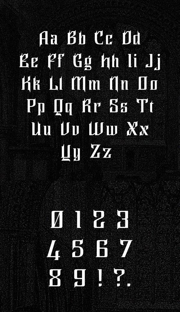 Ghilion Font Letters