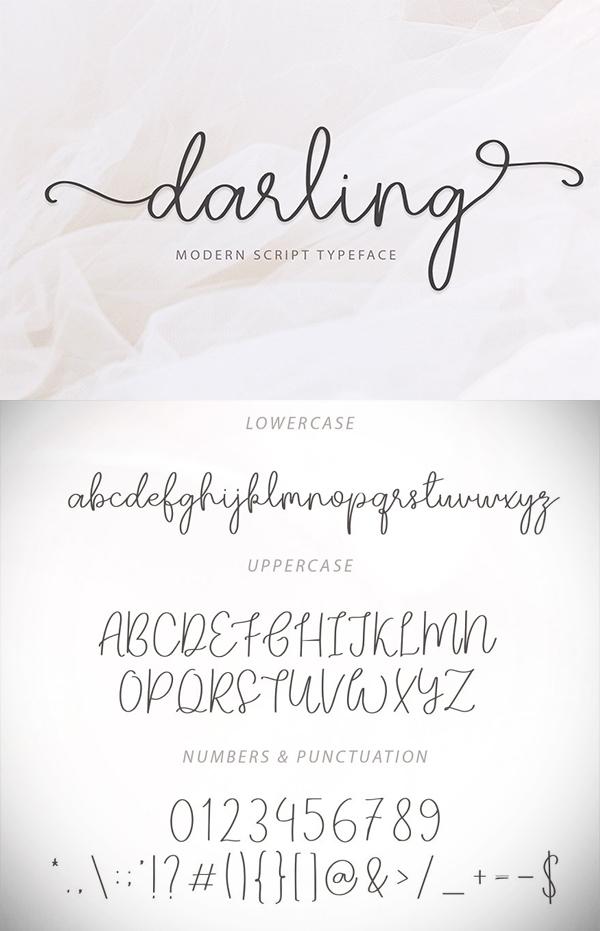 Darling Modern Script