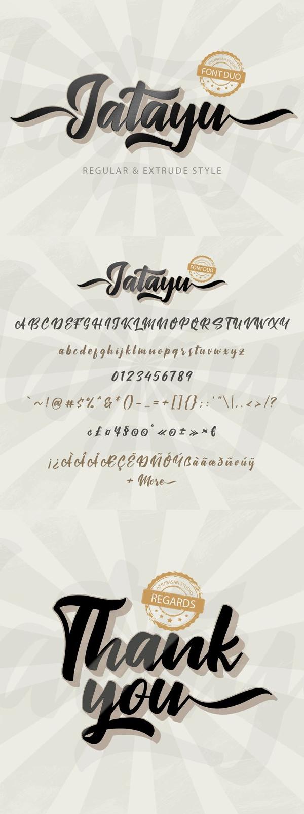 Jatayu Layered Script Font