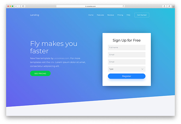 Landing – Free OnePage Bootstrap 4 Template