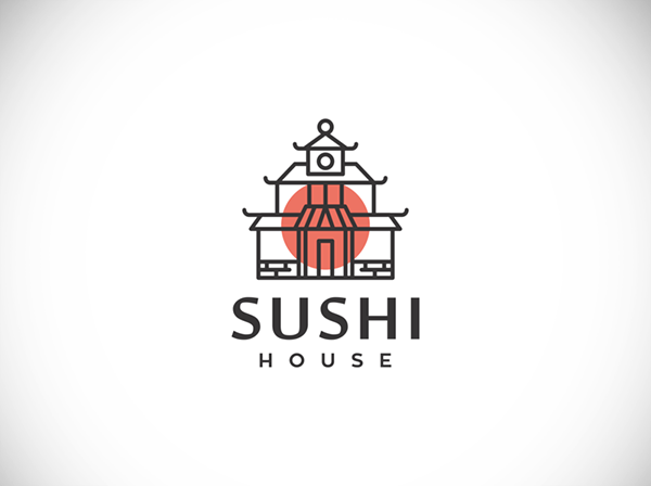 Sushi House Logo Design by consist