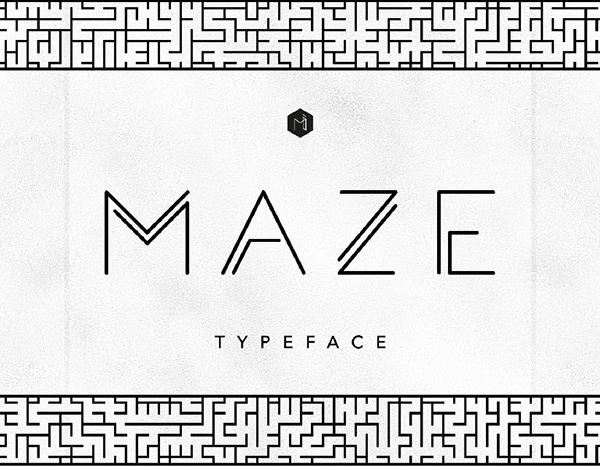 MAZE Free Font