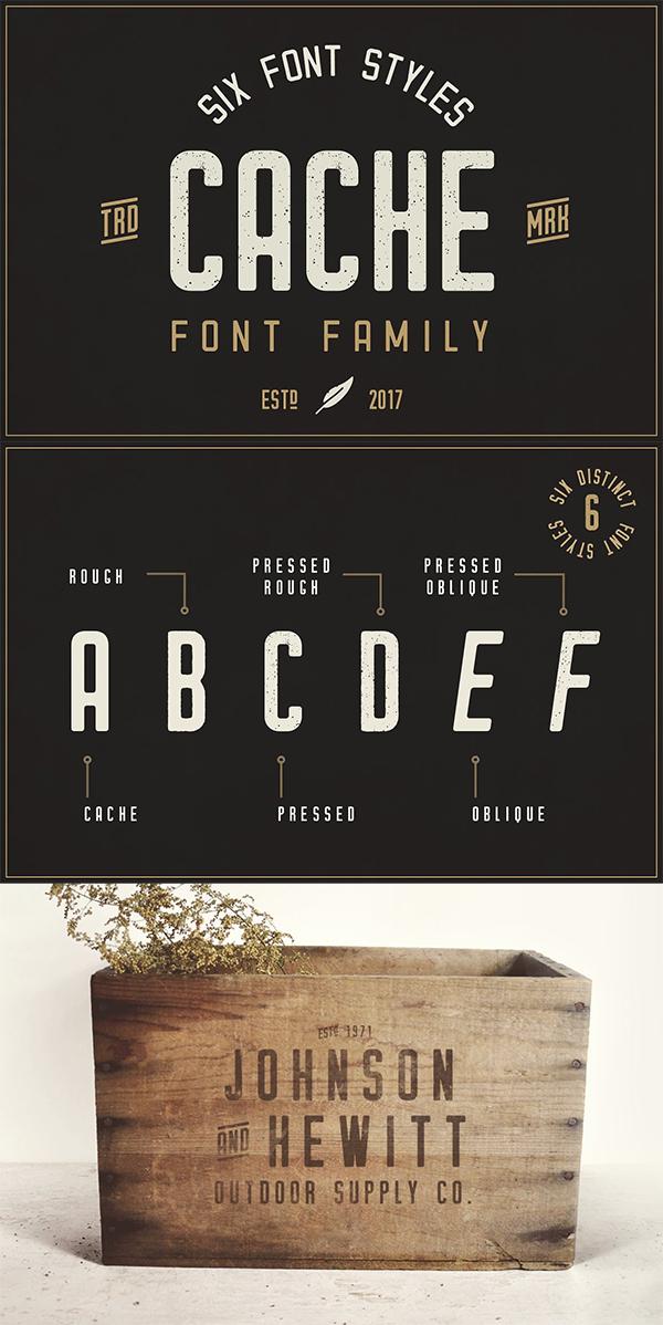Cache - Vintage Font Family