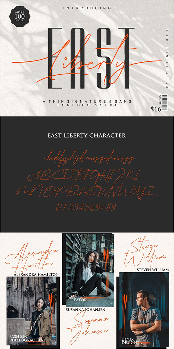 East Liberty | Thin Signature & Sans Font