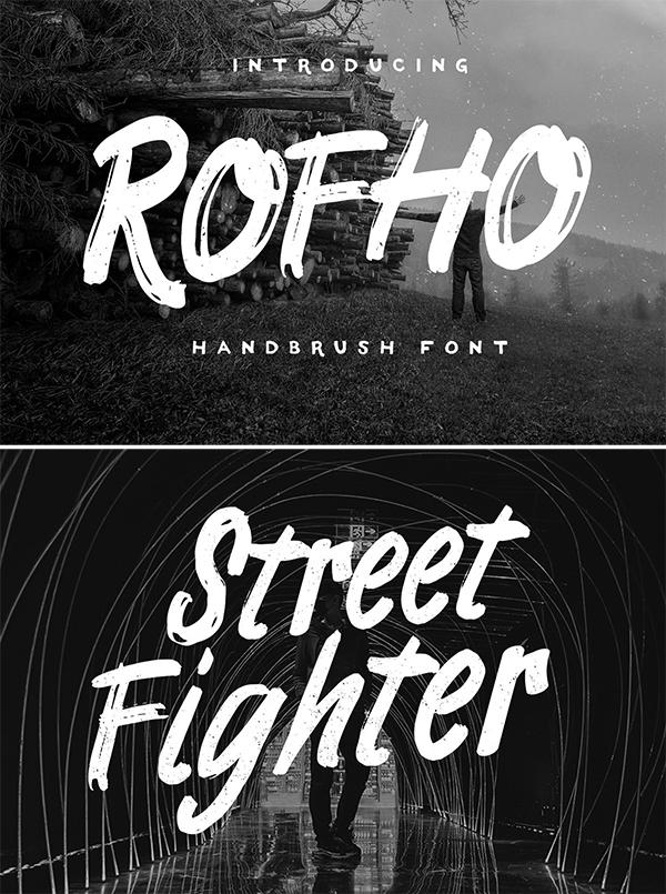 ROFHO Handbrush Font