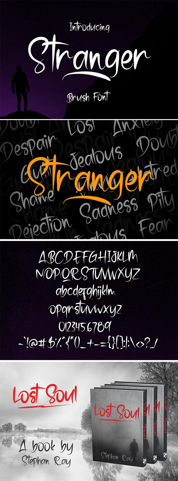 Stranger - Brush Font