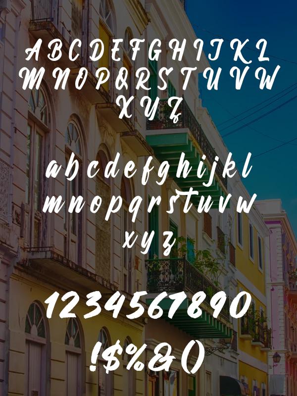 Wandertucker Font Letters