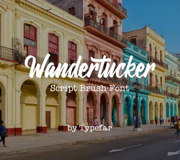 Wandertucker Free Font