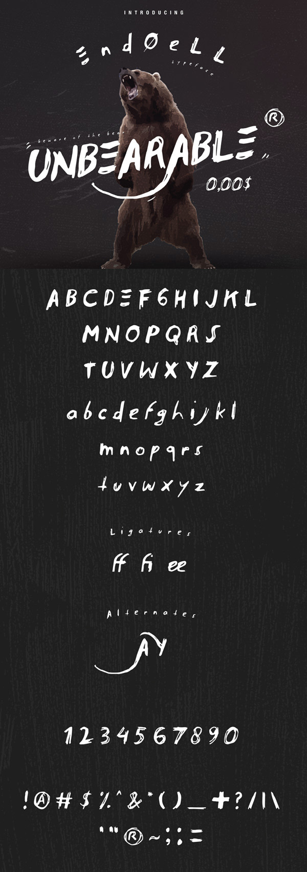 Endoell Free Vintage Font - 50 Best Free Brush Fonts