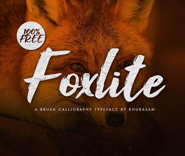 Foxlite Script Free Font - 50 Best Free Brush Fonts