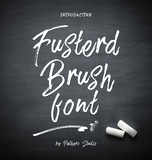 Fusterd Brush Free Font - 50 Best Free Brush Fonts