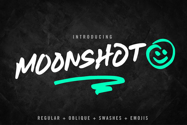 Moonshot Free Font - 50 Best Free Brush Fonts