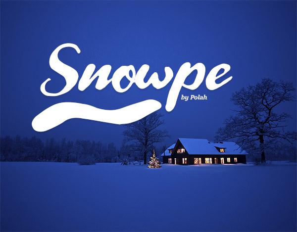 Snowpe Script Free Font - 50 Best Free Brush Fonts