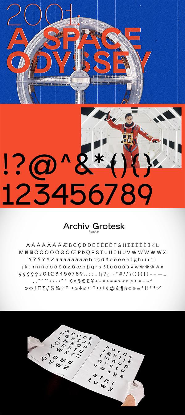 Archiv Grotesk Font Letters