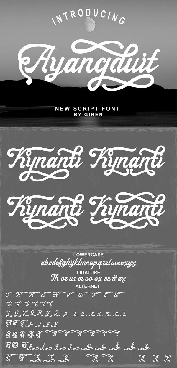 Ayangduit Script Free Font