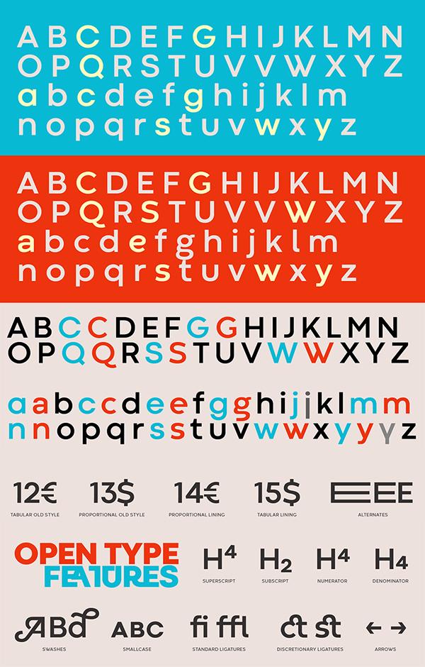 Codec Geometric Sans Serif Font Letters
