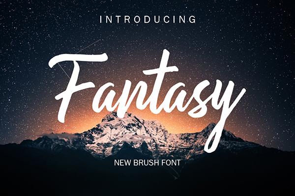 Fantasy Brush Free Font