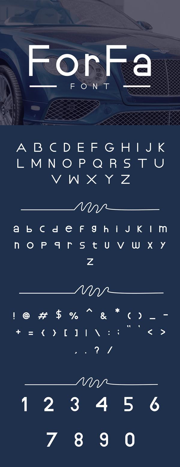 ForFa Font Free Font