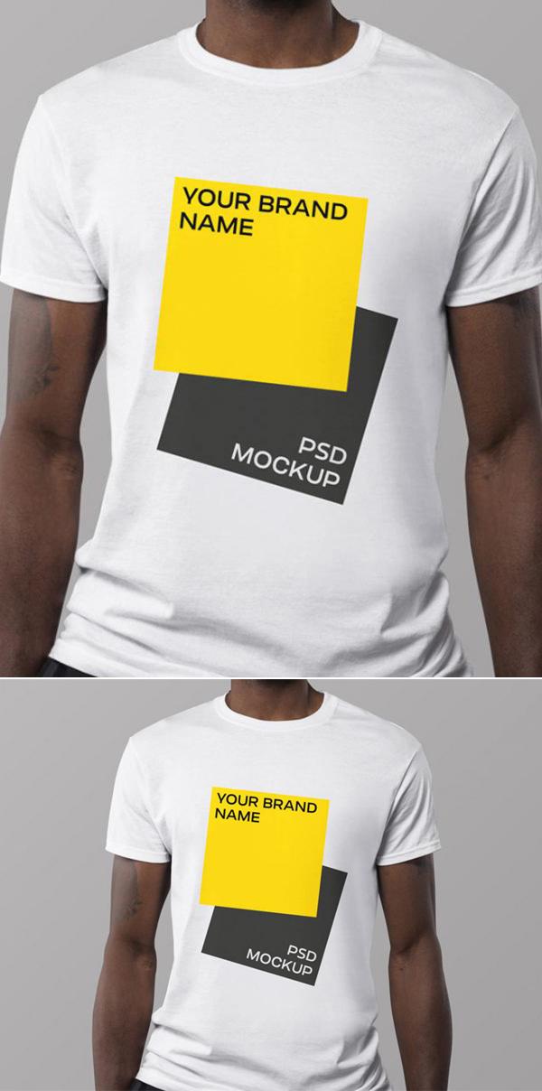 Free Minimal Free PSD T-shirt Mockup