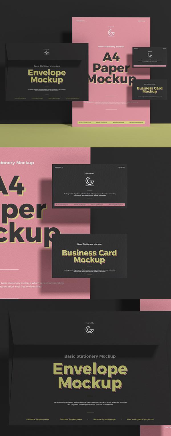 Free Creative Branding Stationery PSD Mockup