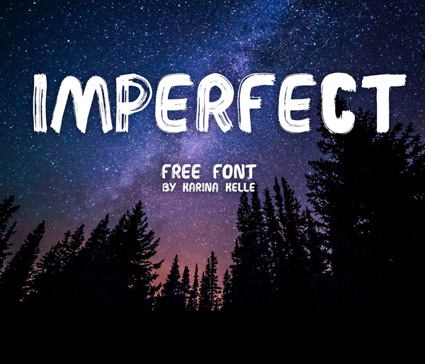 IMPERFECT Handwritten Brush Free Font - 50 Best Free Brush Fonts