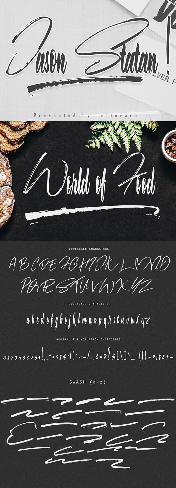 Jason Statan Bold Handwritten Script Free Font - 50 Best Free Brush Fonts
