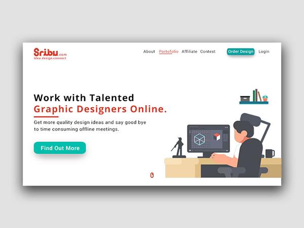 50 Creative Landing Page Design Concepts - 17
