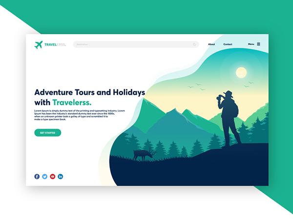 50 Creative Landing Page Design Concepts - 18