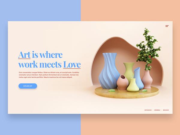 50 Creative Landing Page Design Concepts - 37