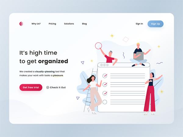 50 Creative Landing Page Design Concepts - 43