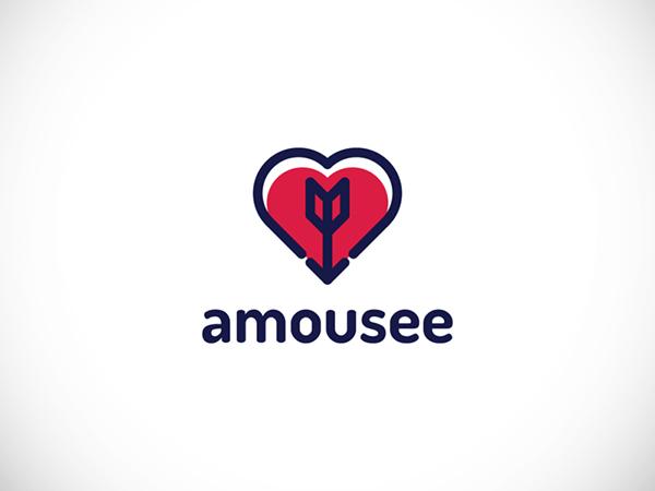 Amousee Dating App Logo by Tomasz Koz?owski