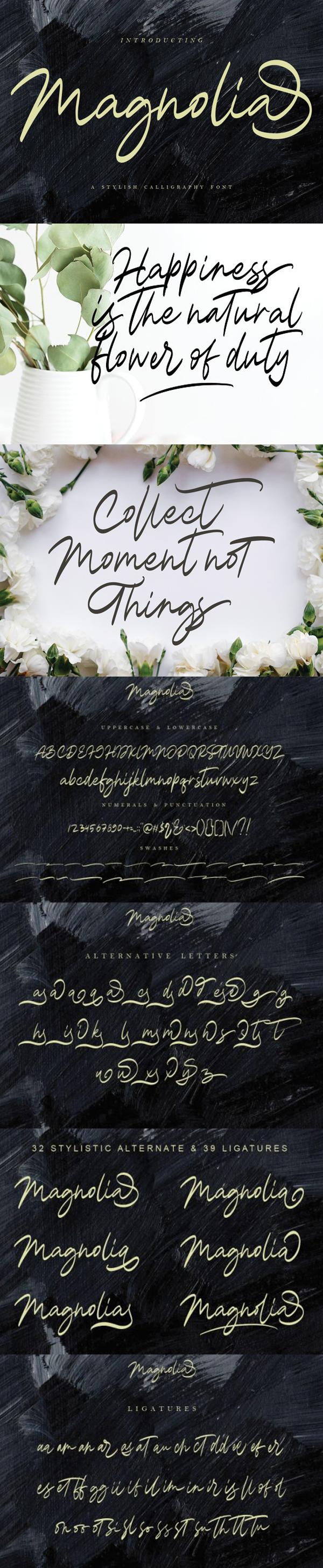 Magnolia Calligraphy Free Font
