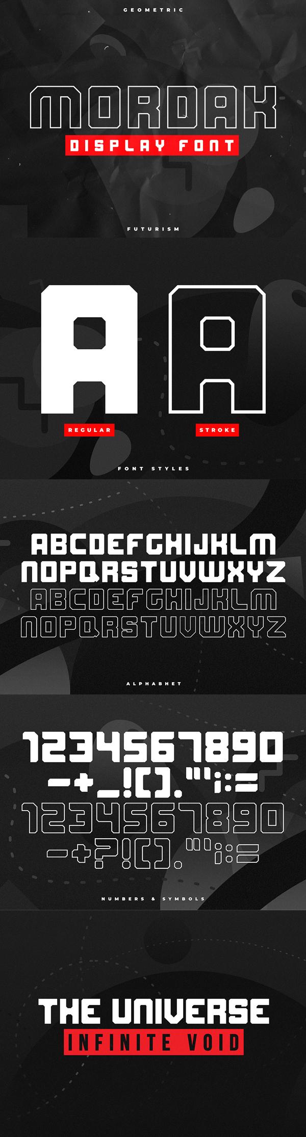 Mordak Display Block Free Font