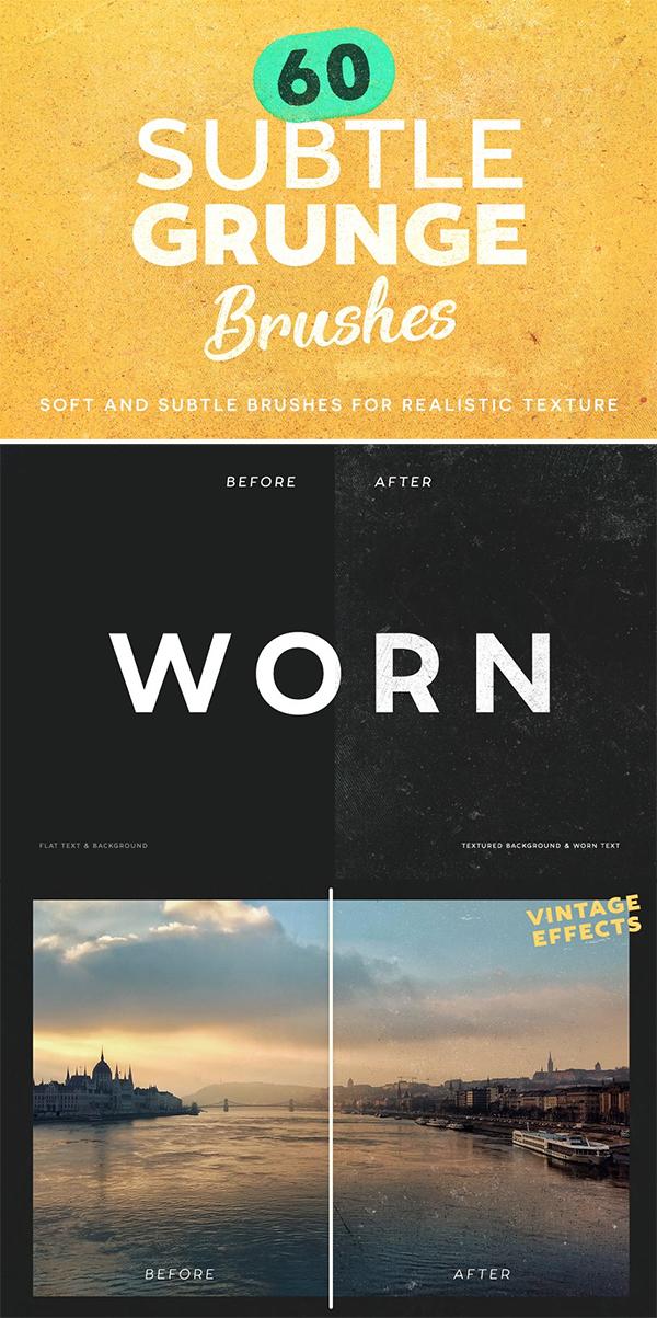 60 Subtle Grunge Brushes