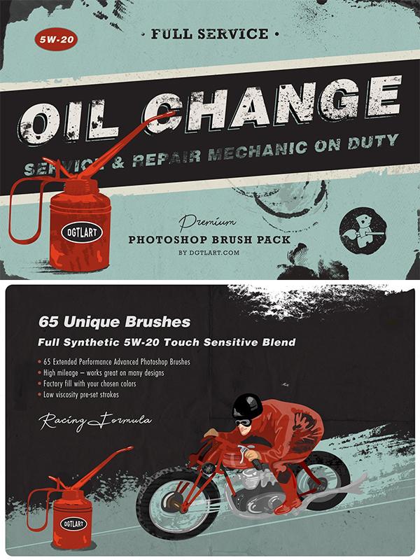 Oil Change | Photoshop Brushes