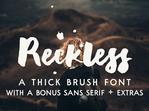 Reckless Brush Font Free Font