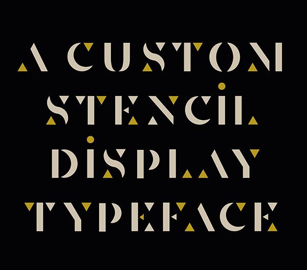 Senda Custom Stencil Free Font