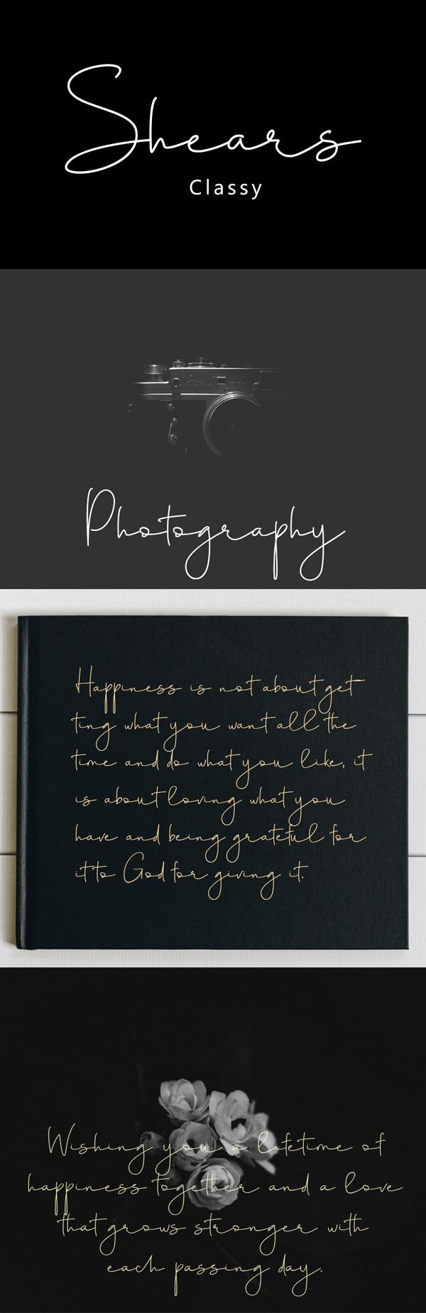 Shears Script Free Font